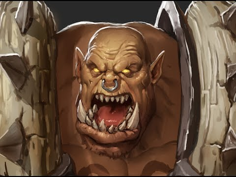 Digital Painting Process: Garrosh Hellscream - With Commentary (Strong Language)