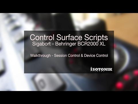 Ableton Live Control Surface Scripts - Sigabort - Behringer BCR2000 XXL - V1.1.0