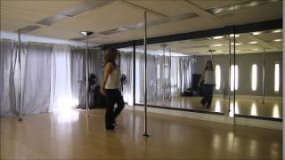 Beginner Pole Routine pt 1 - Tutorial - without music