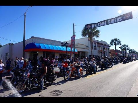 Touring Main Street Daytona Beach During Bike Week 2016