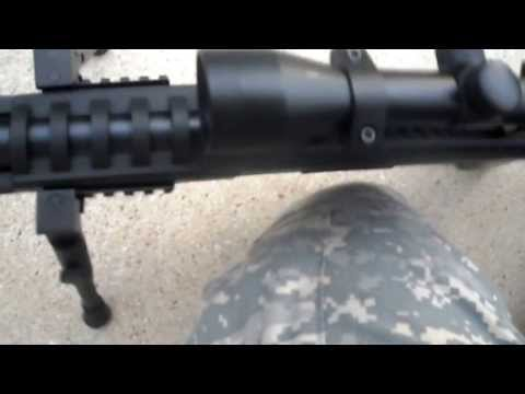 black ops .177 cal sniper rifle pellet gun shooting and review