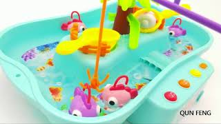 QUN FENG Lets Go Fishing Game for Kids With Music Function Educational Water Table Games for Toddler