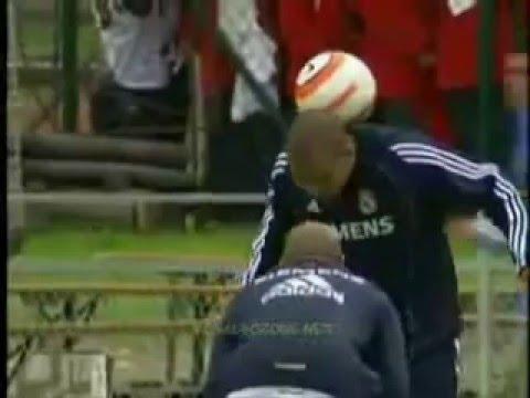 Ronaldo, Zidane, Roberto Carlos (Training)