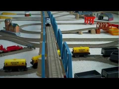 Trackmaster 3 Speed R/C Thomas And Friends James & Spencer Remote Control Kids Toy Train Set