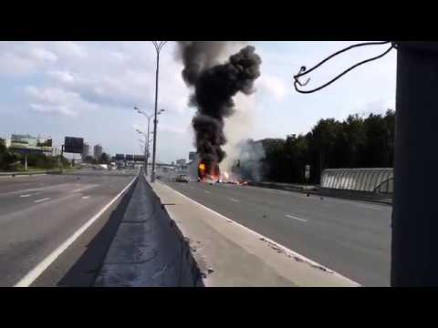 Russian Truck Fire with gas tanks explodes 39 times! HD Recording
