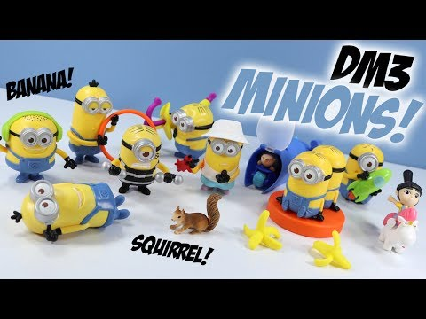 Despicable Me 3 Minions McDonalds Happy Meal Toys 2017 Complete Set Review