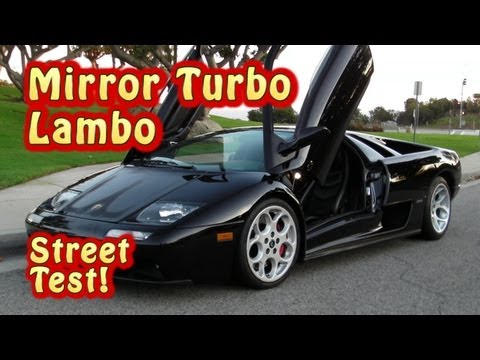 Lambo at NRE!  Road test. Nelson Racing Engines.  Veritas Movie Studio.