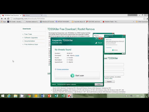 Windows 8.1 Malware Virus and Rootkits removal 101 TDSSKILLER from Kaspersky lab