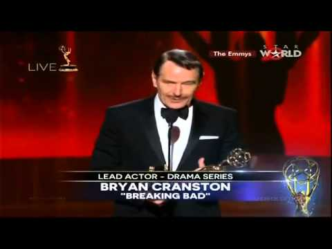 EMMYS 2014 - Bryan Cranston WINS EMMY AWARD FOR LEAD ACTOR IN A DRAMA SERIES [HD]