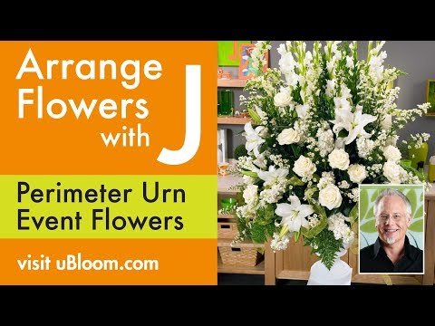 How to create the Perimeter Urn while using 40% LESS Flowers!