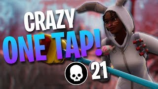 CRAZY ONE TAP KILL! High Kill Gameplay (Fortnite Battle Royale)