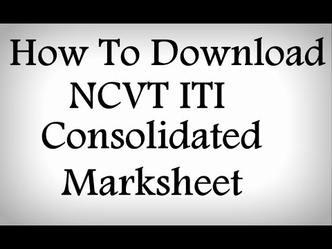 How to Download NCVT ITI Consolidated Marksheet