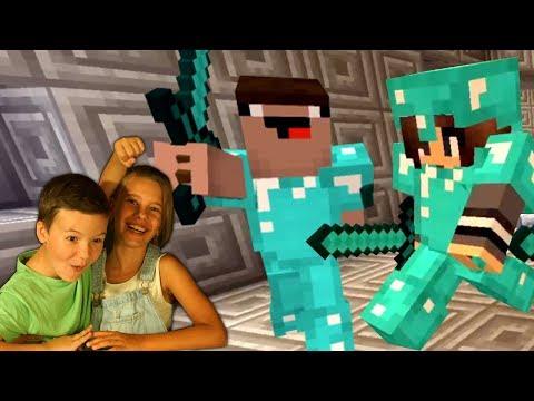 КокаПлей с СЕСТРОЙ в Майнкрафт ПВП - Minecraft PVP Survival Arena Let's Play