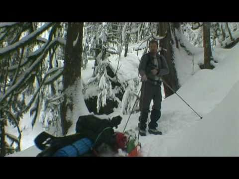 Heather Lake. WA Snowshoe. Winter Hammock Camping