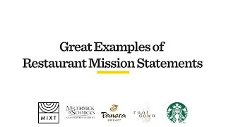 5 Great Examples of Restaurant Mission Statements