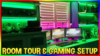 EPIC Kids Gaming Room Tour & Kids Gaming PC | Kids Gaming Setup | LED Lights | MTV Cribs Style
