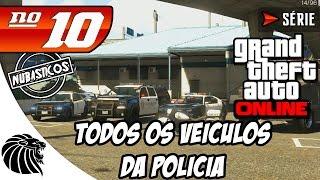 GTA 5 Online -TODOS OS CARROS DA POLÍCIA E MAIS ANIMAIS - Série #10