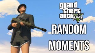 GTA 5 Online Random Moments - Sniping, Airstrike, Tanks, Funny Game Chat, Crazy Cop Car
