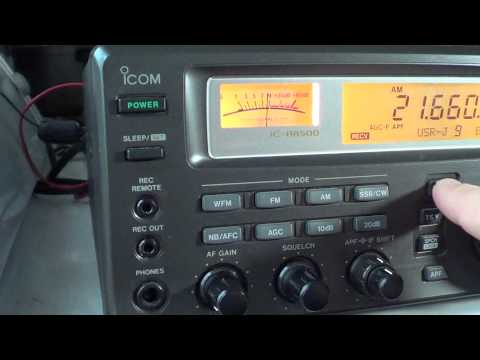 Icom IC R8500 buttons quick look