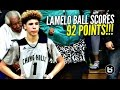 LaMelo Ball Scores 92 POINTS!!!! 41 In The 4th Quarter!! FULL Highlights! Chino Hills vs Los Osos!!