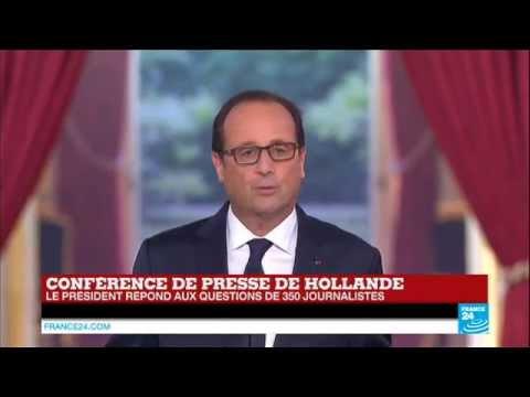 REPLAY - retrouvez la conférence de presse de François Hollande en intégralité
