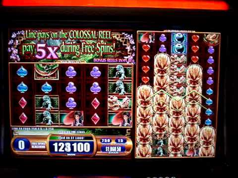 Forbidden Dragon Colossal Reels slot machine.  Jackpot!!  with Max Bet