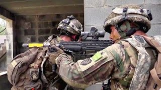 U.K. Paratroopers vs U.S. Army - Simulated Raid On Village
