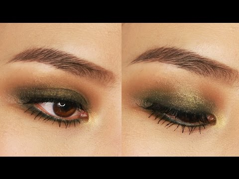 5 Minute Green Smokey Eye Makeup Tutorial   For Small or Hooded Eyes
