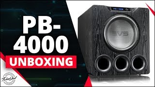 SVS PB-4000 Subwoofer Unboxing & Demo with Moog Model-D