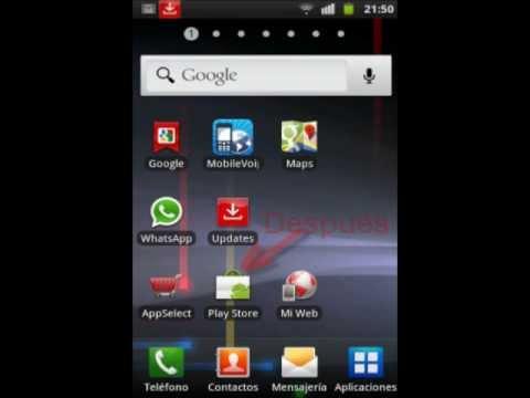 Samsung Galaxy S Plus - Resolver problemas con la actualizacion de las aplicaciones