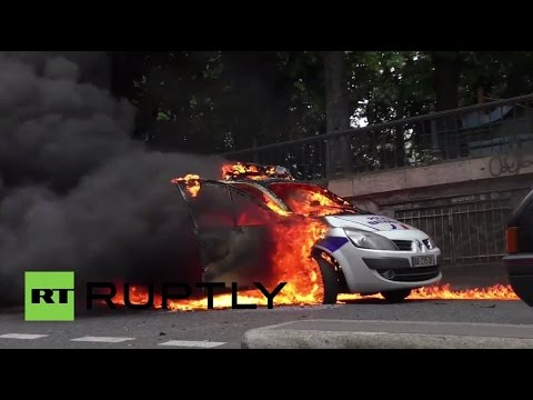 France: Protesters set police car on fire during rally in Paris