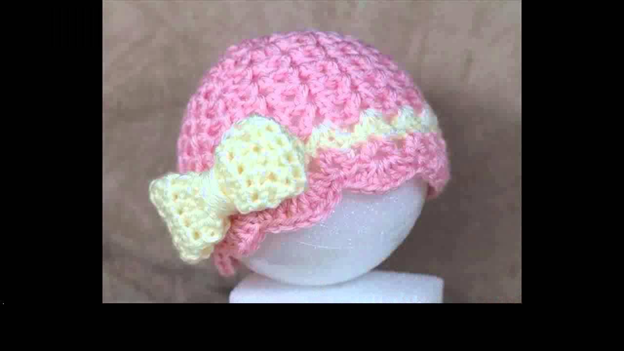 Free Crochet Baby Hats Tutorial Youtube