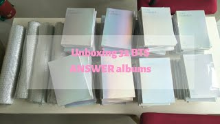 UNBOXING   32 BTS ANSWER albums