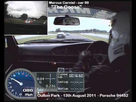Oulton Park crash 13th August 2011 Porsche Club Race 2.wmv