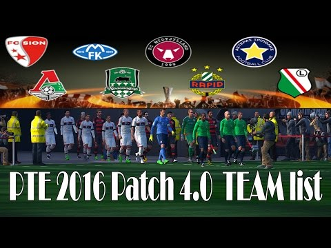 PTE 2016 Patch 4.0  TEAM list