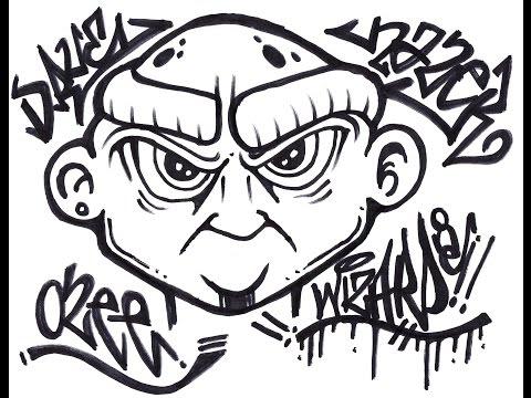 Граффити рисуем баллончик поэтапно