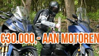 RIJDEN MET GLOEIEND NIEUWE MOTOREN || Yamaha Niken GT & TMAX 500 DX || DutchRiders