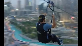 Crown Prince Sheikh Hamdan Ride Zip Line Water Fountain Dubai