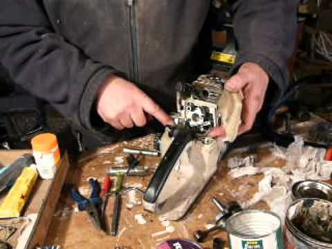 Part 7: Stihl chainsaw  Carburettor. throttle. recoil starter. top handle refit. 026. MS260