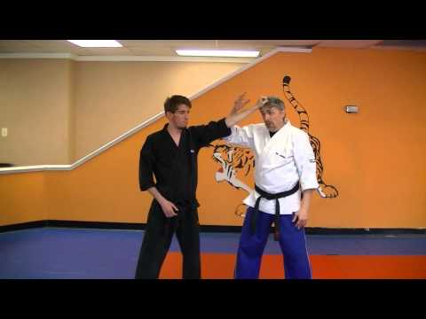 Clutching Feathers - Kenpo self defense technique for a hair grab