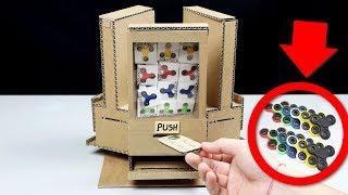 How to make Fidget Spinner Vending Machine using Coins! - DIY Cardboard Vending Machine (LIST KING)