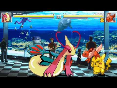 Mugen Vore - (merufimu)milotic Vs Flareon And Pikachu + Download Link! video