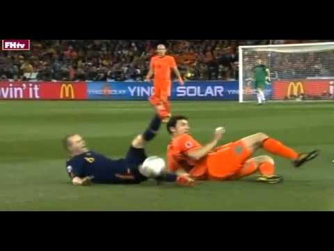 World Cup 2010 Most Shocking Moments 3- Spain vs Holland Finale