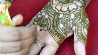 easy mehndi henna design for full hands*mehndi designs*quick bridal mehndi for full hands*