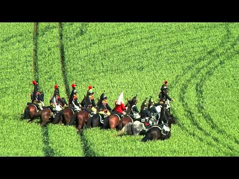 Waterloo Re-enactment 2012 - French cavalry and Napoleon