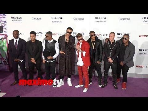 Justin Bieber S Believe World Premiere Justin Bieber Usher Jaden ...