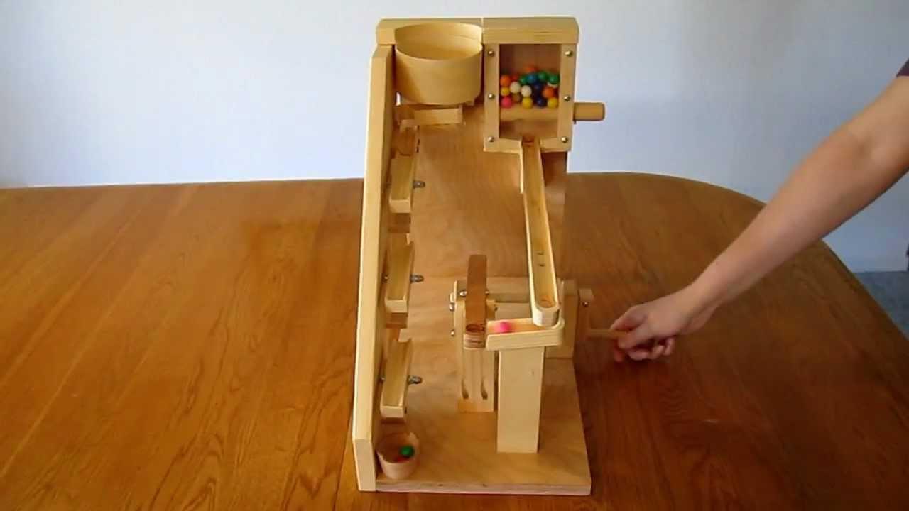 wood gumball machine