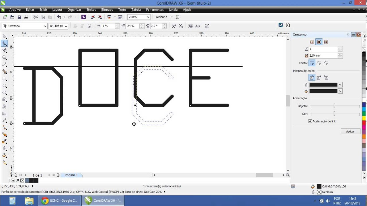 Desenhando No Corel Draw Para M Quina Laser Ecnc Youtube