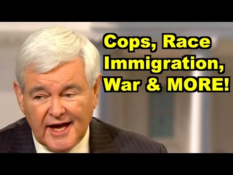 Cops, Race, War, Immigration - Newt Gingrich, Mia Love & MORE! LiberalViewer Sunday Clip Round-Up 89