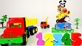 Learn animals and count to five! Kids! Видео для самых маленьких!